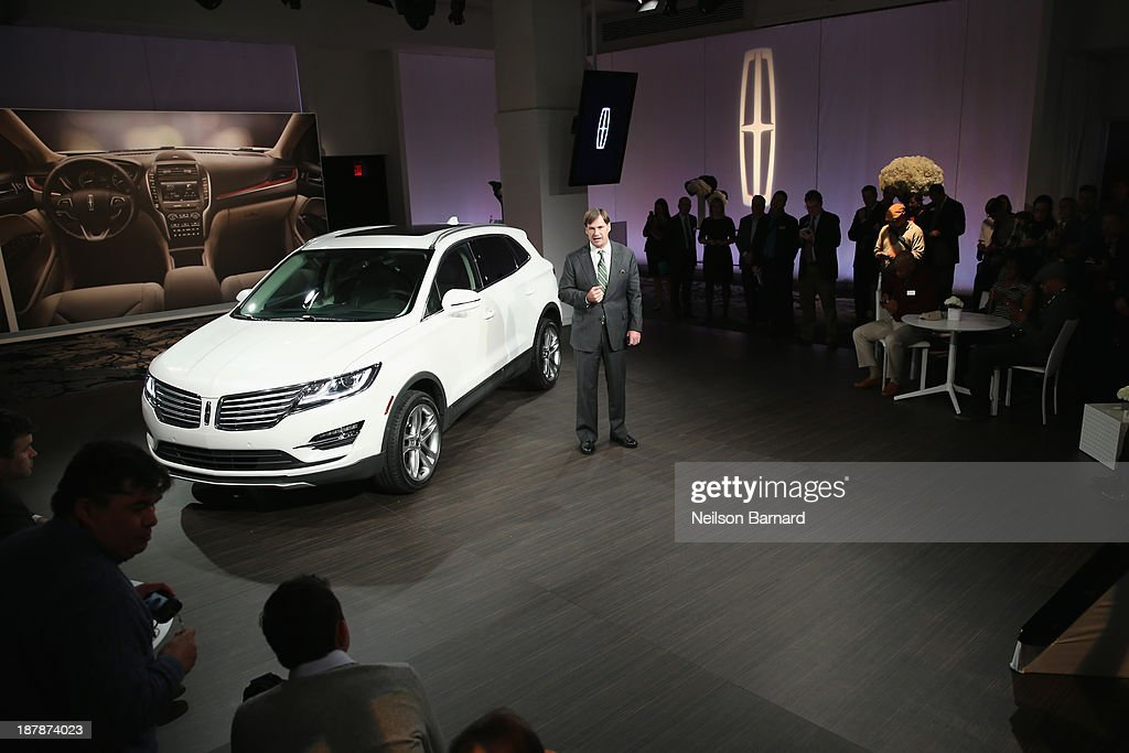 Executive VP of global marketing, sale and service, and Lincoln Jim Farley speaks at the reveal event for the all-new 2015 Lincoln MKC on November 13, 2013 in New York City.
