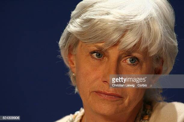 UMP executives attend a politcal meeting entitled 'Reform to Build' Francoise de Panafieu listens during one of the speeches