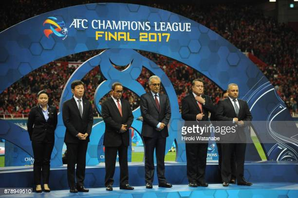 AFC executives attend the award ceremony after the AFC Champions League Final second leg match between Urawa Red Diamonds and AlHilal at Saitama...