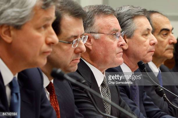 Executives from the financial institutions who received TARP funds JPMorgan Chase Co CEO and Chairman Jamie Dimon The Bank of New York Mellon CEO...