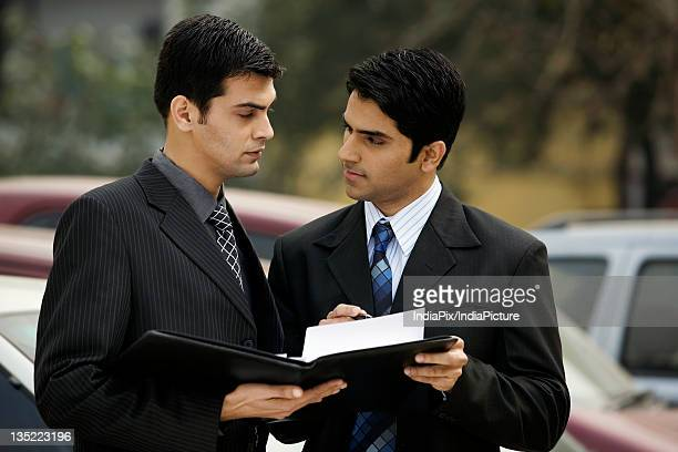 Executives having a discussion