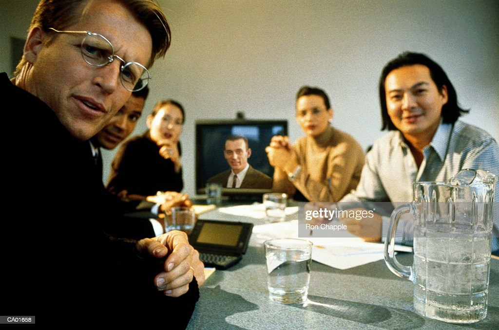 Executives in meeting : Stock Photo