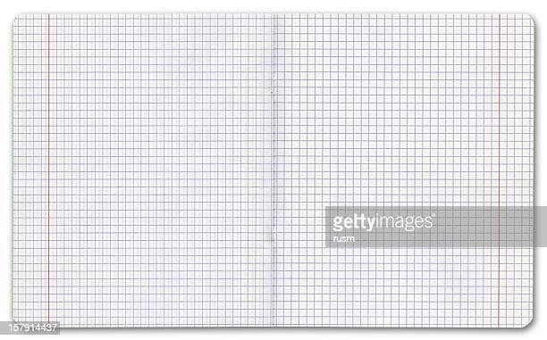 Exercise book on white background, clipping path