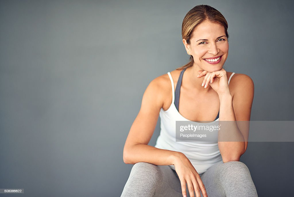 Exercise is number one on my to-do list : Stock Photo