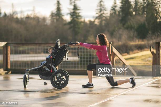 Exercise with Infant and Stroller