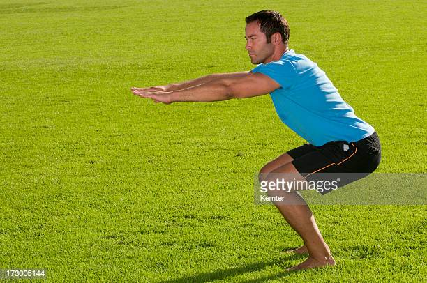 exercises in the grass