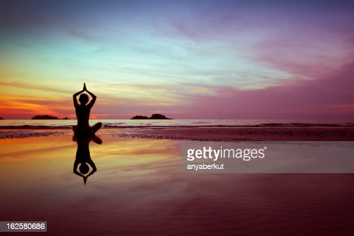 exercises on the beach : Stock Photo