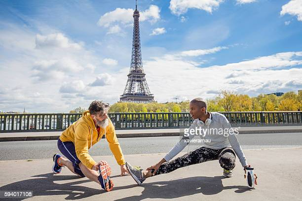 Exercising in the streets of Paris
