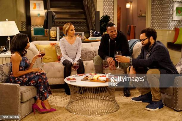 MARLON 'Exes With Benefits' Episode 106 Pictured Bresha Webb as Yvette Essence Atkins as Ashley Marlon Wayans as Marlon Diallo Riddle as Stevie