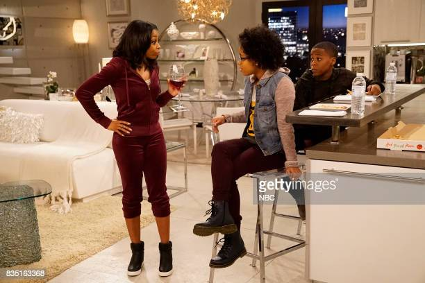 MARLON 'Exes With Benefits' Episode 106 Pictured Bresha Webb as Yvette Notlim Taylor as Marley Amir O'Neil as Zack