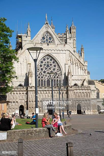 Exeter Cathedral exterior Devon England UK