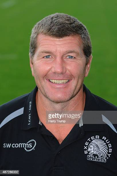 Exeter Chiefs Head Coach Rob Baxter during the photocall at Sandy Park on September 8 2015 in Exeter England