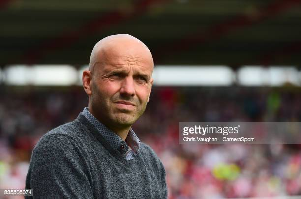 Exeter City manager Paul Tisdale during the Sky Bet League Two match between Exeter City and Lincoln City at St James Park on August 19 2017 in...