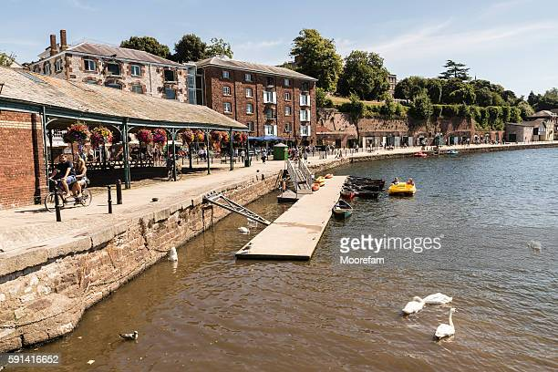 Exeter quay Devon on a summers day with people around