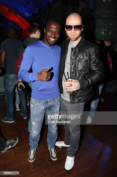 ExFootballer Hans Sarpei and music producer Mateo at the 'Call of Duty Ghosts' Launch Party on November 4 2013 in Berlin Germany