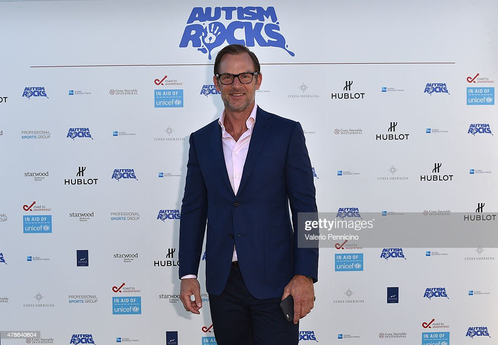 Ex-Footballer <a gi-track='captionPersonalityLinkClicked' href=/galleries/search?phrase=Ronald+De+Boer&family=editorial&specificpeople=1006743 ng-click='$event.stopPropagation()'>Ronald De Boer</a> arrives at the Welcome Dinner presented by Autism Rocks prior to The Costa Smeralda Invitational Golf Tournament at Pevero Golf Club, Costa Smeralda on June 26, 2015 in Olbia, Italy.