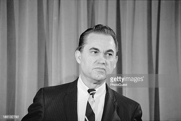2/8/68 ExGovernor Wallace of Alabama news conference stating he is a presidential candidate on the 3rd party ticket photo by Marion S Trikosko