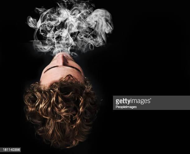 Ausatmen die Rauch