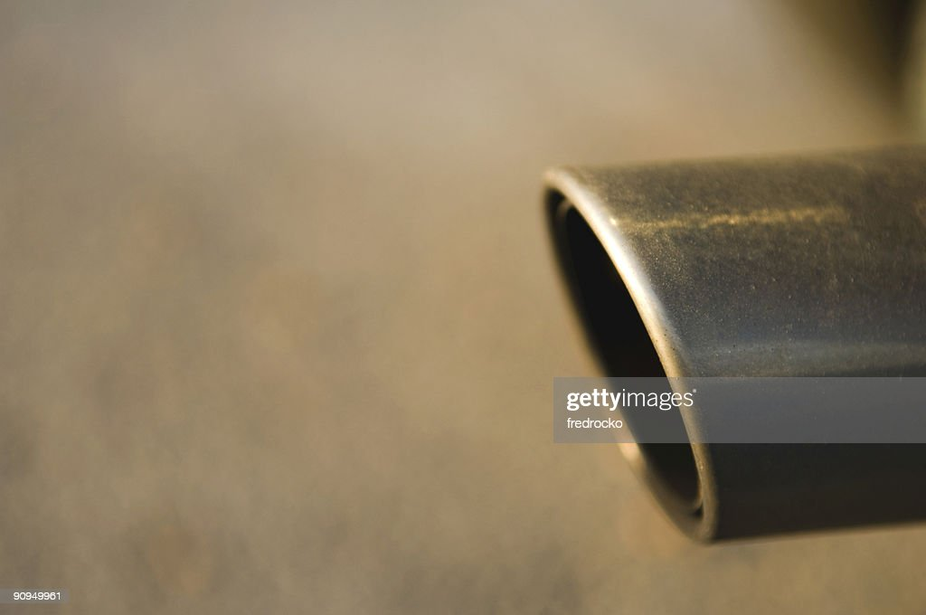 Exhaust Pipe with Exhaust from a Car