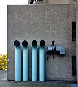Exhaust Pipes In A Building