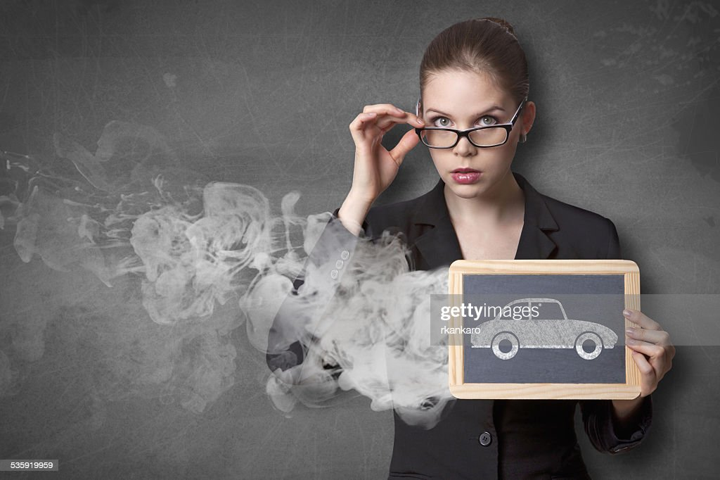 exhaust pollution : Stock Photo