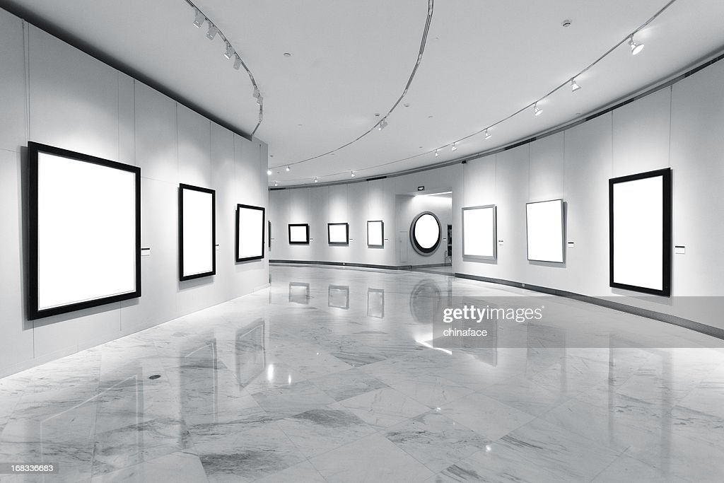 Exhibition frames : Stock Photo