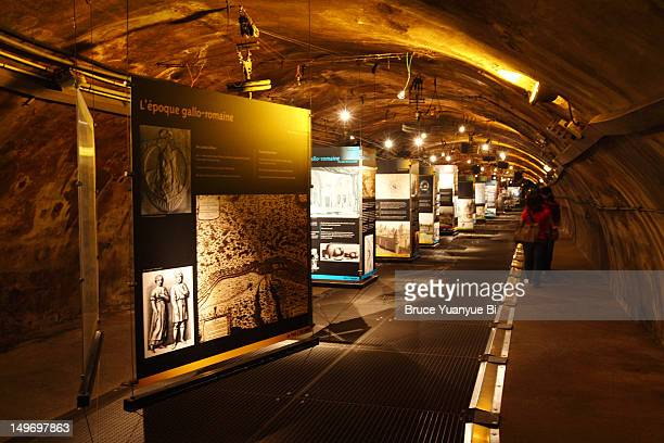 Exhibition of the history of the Paris sewer system in Musee des Egouts de Paris.