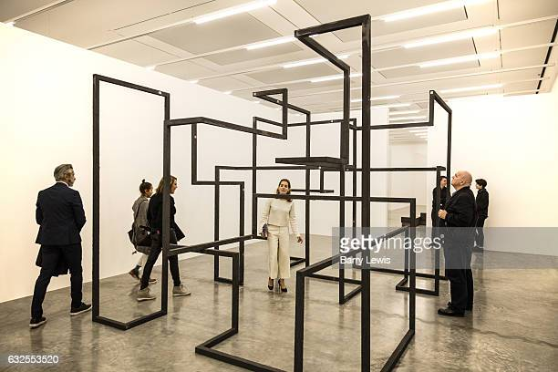 Exhibition of the sculptures by British sculpter Anthony Gormley at the White Cube Gallery Bermonsey London on the 7th October 2016 Anthony Gormley...