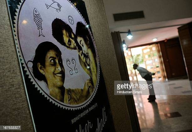 Exhibition on Satyajit Ray at the Centenary Film Festival at Siri Fort auditorium on April 26 2013 in New Delhi India Centenary Film Festival a...