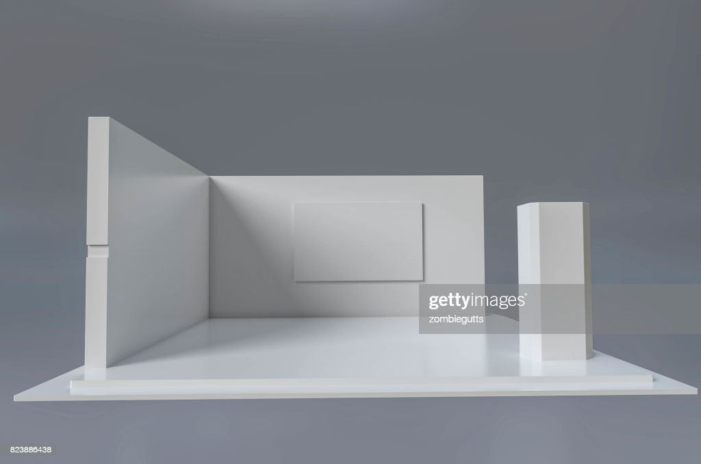 Exhibition Stand Template : Exhibition stand d template stock photo thinkstock