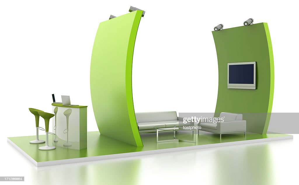 Exhibition stand with lounge