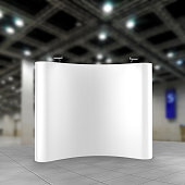 Exhibition Tension Fabric Display Banner Stand Backdrop for trade show advertising stand with LED OR Halogen Light.
