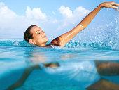 Exhilaration in the ocean