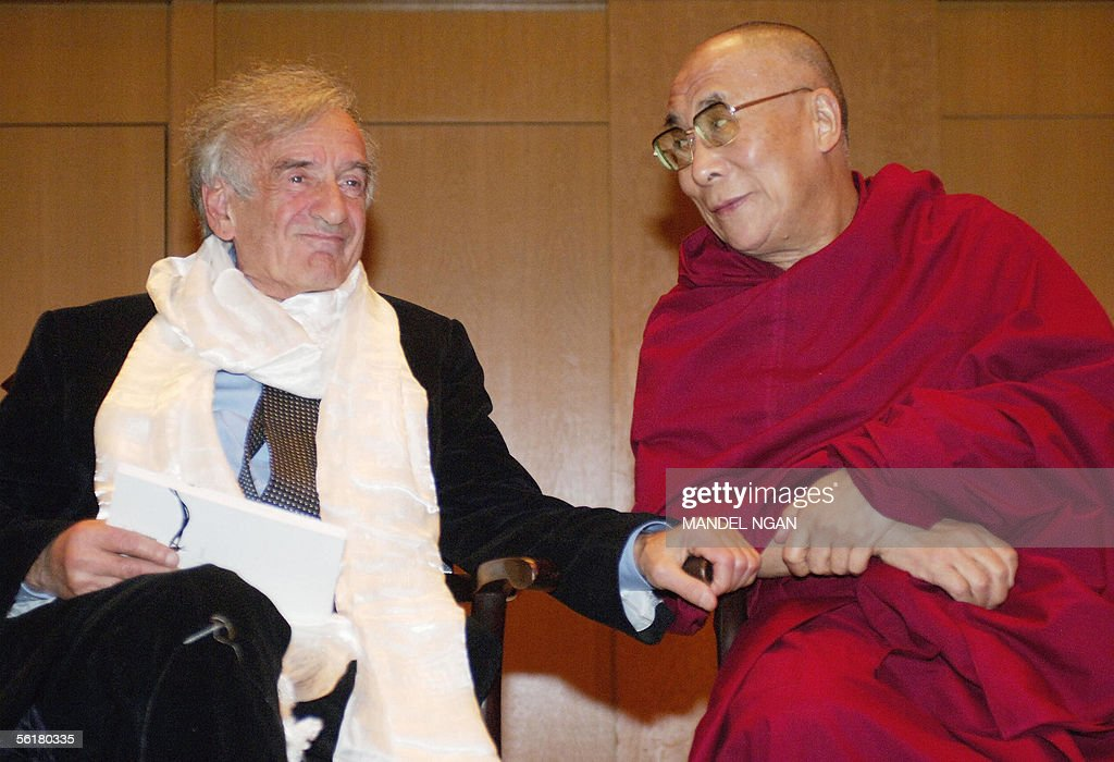 Dalai Lama Presents Tibets Light Of Truth Award To Elie Wiesel