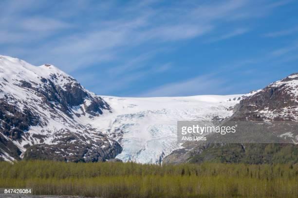 Exit Glacier in Kenai Fjords National Park, Alaska
