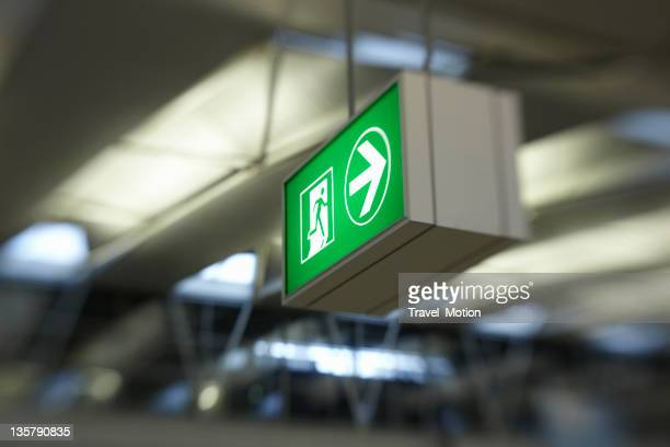 Exit signage at airport