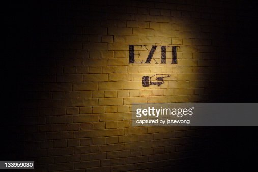Exit that way : Stock Photo