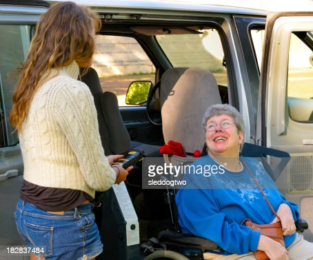 Exiting the Van