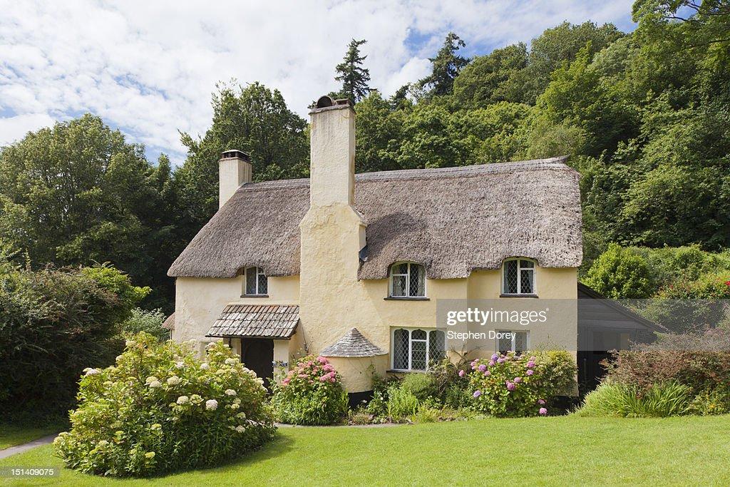 Exmoor village of Selworthy, Somerset, England, UK