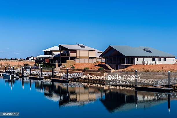 A new housing estate on a fishing mariner in outback Australia.