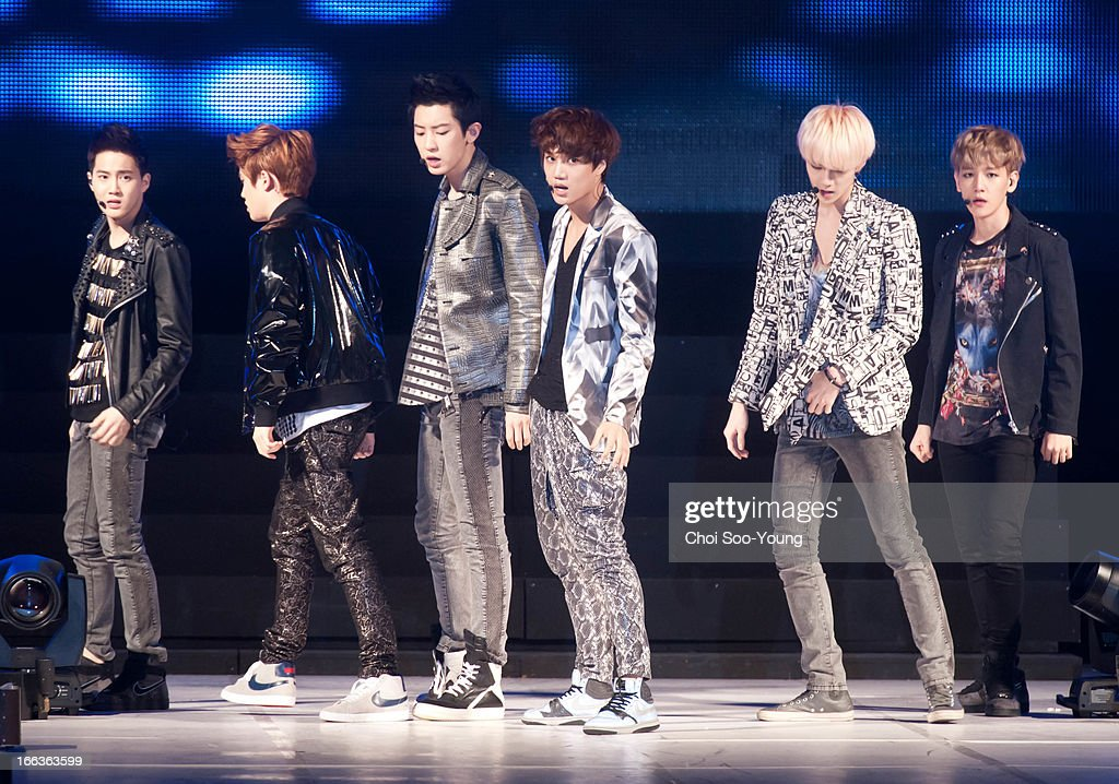 Exo-k perform onstage during 'Seoul Girls Collection 2013' at Olympic Park SK Handball Stadium on April 6, 2013 in Seoul, South Korea.
