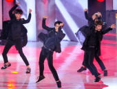 ExoK perform onstage during the Mnet 'M Count Down' 10th anniversary at Goyang gym on July 24 2014 in Gyeonggido South Korea
