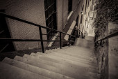 """The famous """"Exorcist"""" steps in historic Georgetown, Washington DC."""