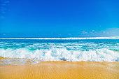 Exotic blue tropical ocean / sea tropical scenery.