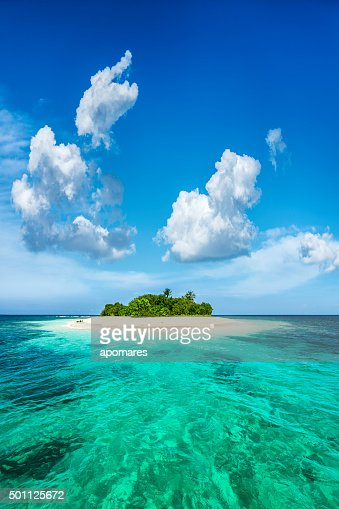 Exotisches Paradies einsamen tropischen Insel in der Karibik