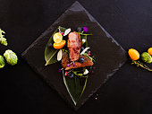 exotic restaurant gourmet food concept. thailand traditional cuisine. delicious delicacy.