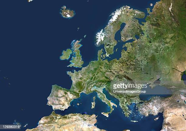 Expanded European Union True colour satellite image of the EU including the new member states that joined on 1st May 2004 Ten countries joined the EU...