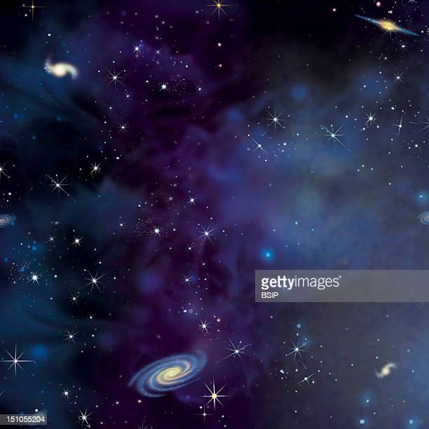 Expansion Of The Universe Stage 2 Illustration Of Friedmann's Big Bang Theory According To Friedmann Who Studied Einstein's Equations The Matter Is...