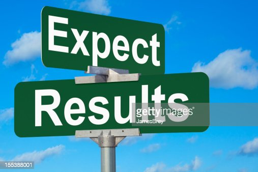 Expect Results Street Sign