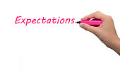 Business hand writing  Expectations